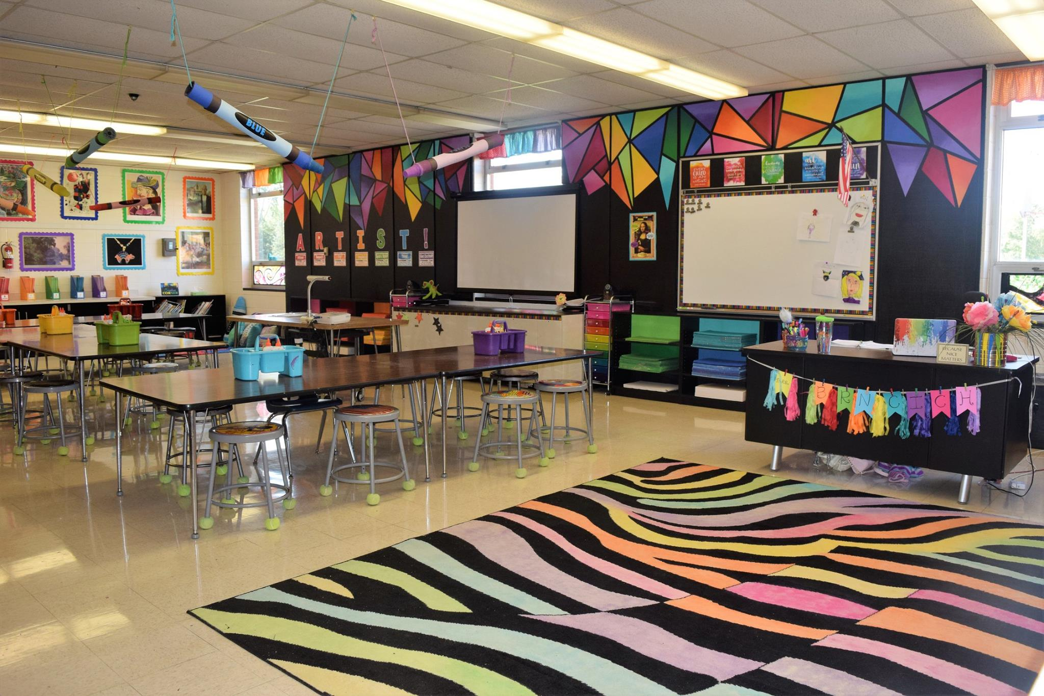 Inspiring Art Rooms , Walls Can Teach , The Arty Teacher