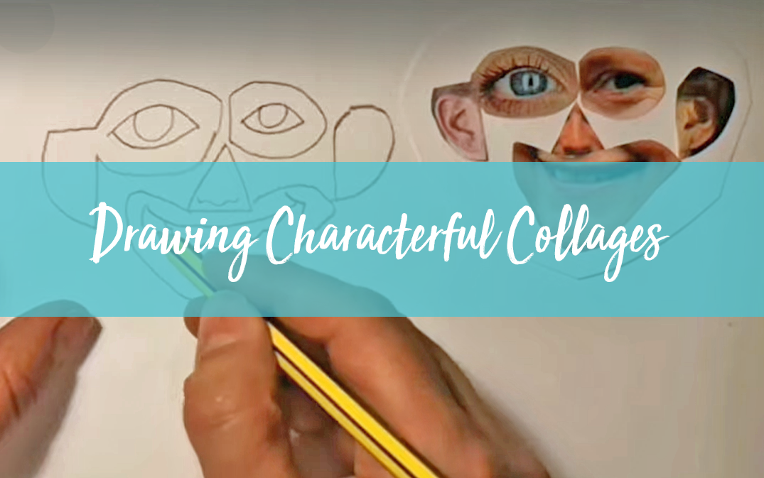 drawing character collages